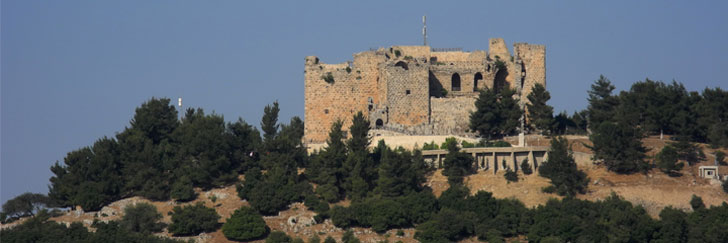 The Ajloun Castle (Qal'at Ajloun or Qal'at Ar-Rabad) in Jordan - Hiking in Jordan.