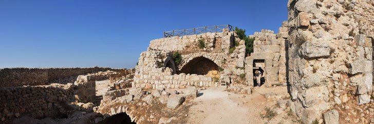 """Inside"" the  Ajloun Castle (Qal'at Ajloun or Qal'at Ar-Rabad) in Jordan - Hiking in Jordan."