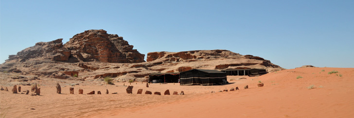 "Bedouin Camp Trail - Salem Zalabih's ""Mohammad Mutlak Camp"" in Wadi Rum - Hiking in Jordan."
