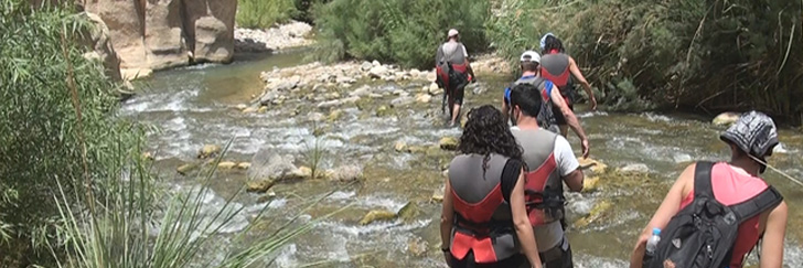 Wadi Mujib Malaqi Trail - Life Vest Are Provided by the RSCN - Hiking in Jordan.