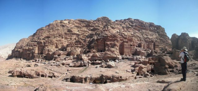 12 Petra High Place of Sacrifice Trail - A View of the Royal Tomb Complex
