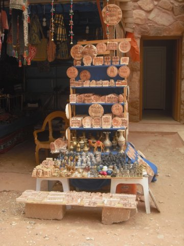 13 Petra High Place of Sacrifice Trail - A Bedouin Merchandise Stand