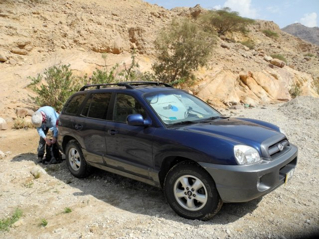 02 Wadi Assal - Our Car Parked in the Wadi