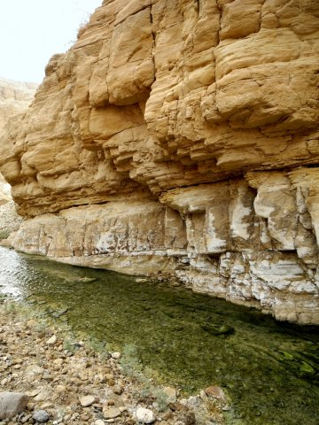 12 Wadi Mukheiris Formation Trail - The Stream near Rock Formations